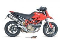 Mivv Sport Suono short hochgelegt HighUP Sportauspuffanlage mit ABE Ducati Hypermotard 1100