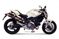Mivv GP Carbon short hochgelegt HighUP Sportauspuffanlage mit ABE Ducati Monster 696