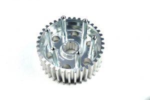 Erleicherter Kupplungskern in der Farbe titanium der Firma Kbike! Passend für alle Ducati mit Trockenkupplung.