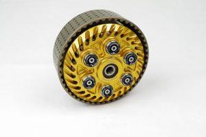Einstellbare sechsfeder Antiopping Kupplung der Firma Kbike in der Farbe goldohne Spinnfeder, mit Kupplungskorb 48 Zähne
