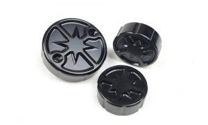 Behälterdeckel für Bremse, Kupplung und Hinterradbremse in Sterndesign aus hochwertigem Aluminium der Firma Kbike passend für ss modelle