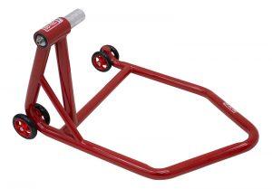 SD-TEC Montageständer Linea rossa 28,5 mm Einarmschwinge, links, rot - Triumph, Honda, KTM ...
